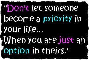 priority to option