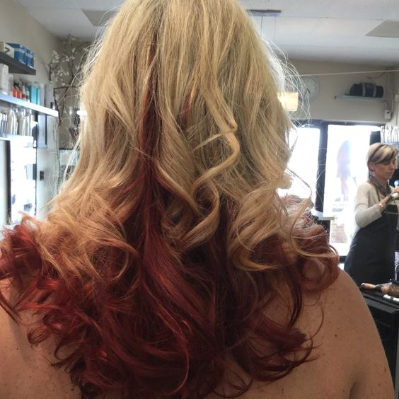 Red and Blonde Curls By Tiff and Jenn