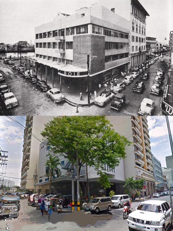 The Botica Boie Before And After Location Escolta Manila