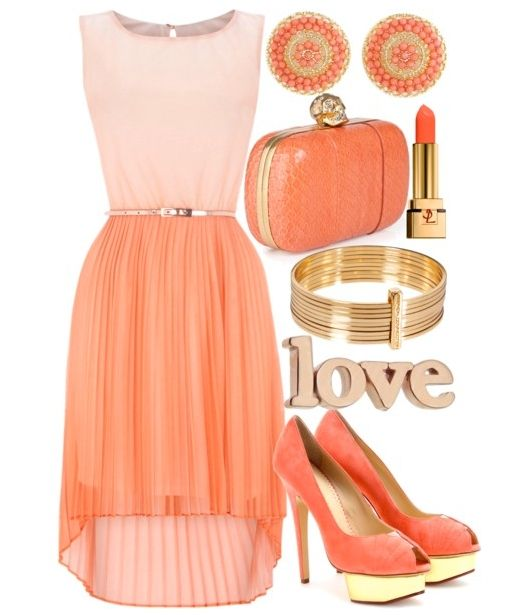 shoes to wear with peach dress