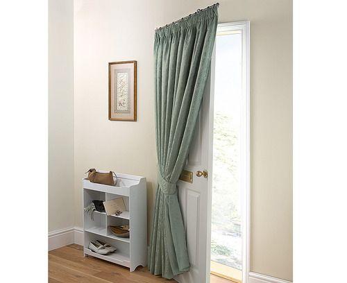 The o 39 jays doors and curtain poles on pinterest for Door curtain pole