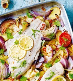 Roasted plaice with fennel and tomatoes. | Tesco