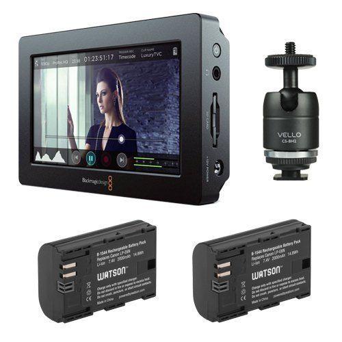 Blackmagic Design Video Assist Hdmi 6g Sdi Recorder With 5 Monitor Watson Lp E6n Lithium Ion Battery Pack Of 2 Plus Vello Multi Function Ball Blackmagic Design Underwater Camera Hdmi
