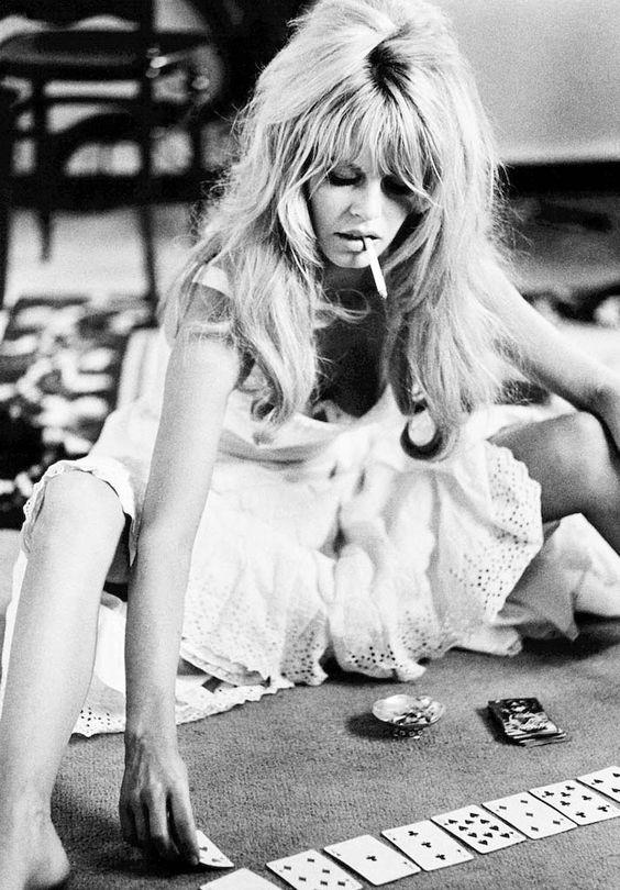 "Brigitte Bardot, 1967 — Douglas Kirkland 1965, on the set of ""Viva Maria"""