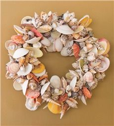 Colorful Shell Wreath
