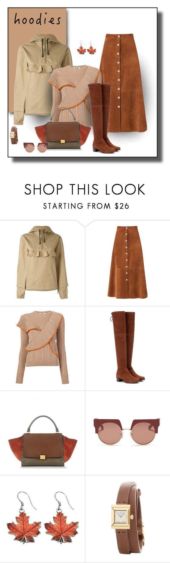 """""""Business Day Hoodie"""" by michelletheaflack ❤ liked on Polyvore featuring Peter Jensen, Diane Von Furstenberg, MSGM, Stuart Weitzman, Marni, Gucci and hoodie"""