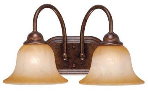 Vaxcel USA PSVLD002WP Prescott 2 Light Bathroom Vanity Lighting Fixture in Bronze, Glass by Vaxcel. $37.35. For over 20 years, Vaxcel International has been a premier supplier of residential lighting products. Our product offering is composed of more than 2000 items, ranging from builder-ready fixtures and ceiling fans to designer chandeliers and lamps, in the latest styles and finishes. We are known in the industry for offering a full selection of products at competitive p...