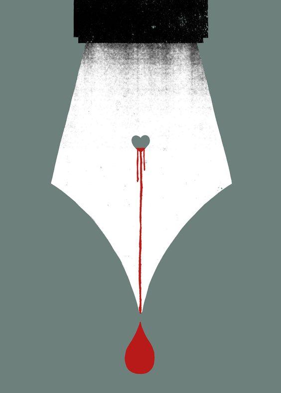 """ Scripturient "" - Possessing a violent desire to write."