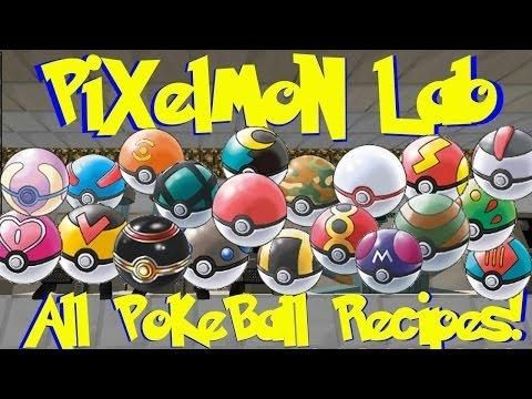 Pixelmon Lab All Pokeball Crafting Recipes Minecraft Pokemon