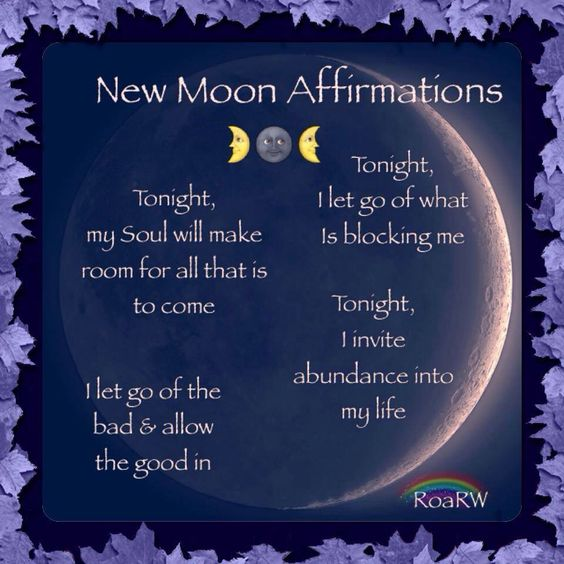 New moon ritual affirmations | soyvirgo.com