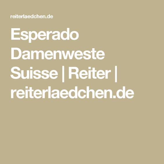 Esperado Damenweste Suisse | Reiter | reiterlaedchen.de