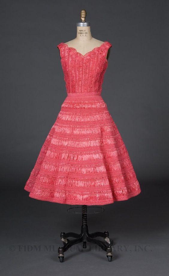 vintage hairpin lace dress #crochet