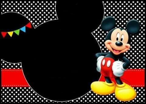 Pin De Me En Micky Cumple De Mickey Mouse Invitaciones De