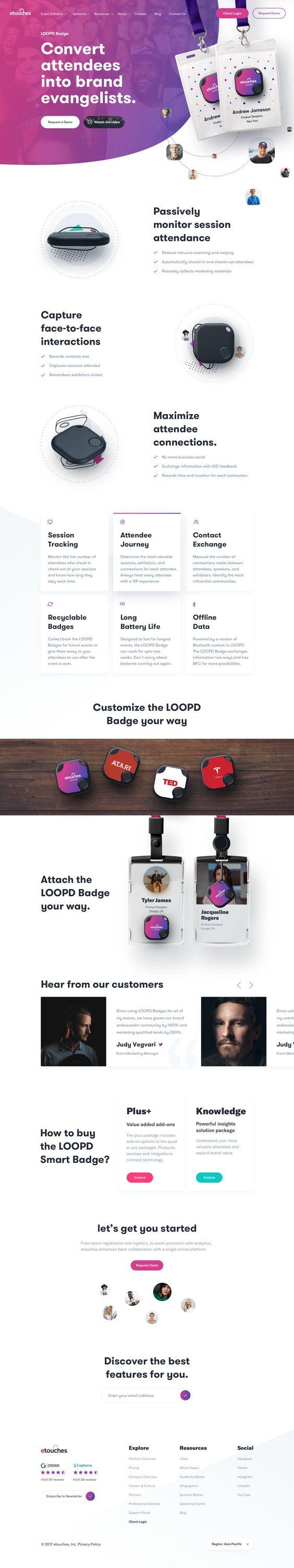 Loopd badge dribbble #websites