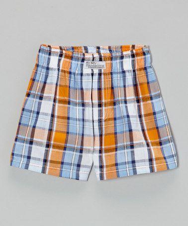 Orange Soda Plaid Shorts - Infant by Itty Bitty & Handsome #zulily #zulilyfinds