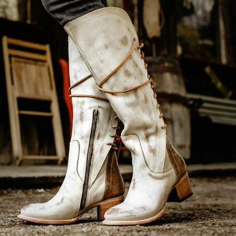 Womens Freebird By Steven Cosmo Beige Multi Rear Lace Up Boot Boots Freebird Boots Leather Boots Women