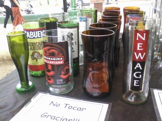 Realizadas con botellas originales vasos jarras copas for Vasos copas vidrio