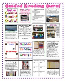 resource for any classroom teacher who teaches guided reading, uses literature groups, or loves reading workshop! Inspired by Fountas...