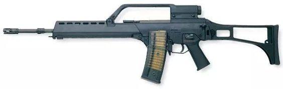 Hk G36E, fusil automático de dotación en el ejército español.