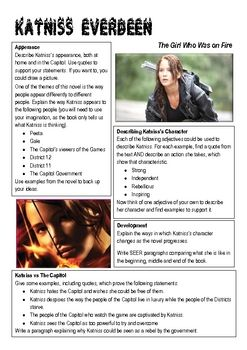 character analysis essay on katniss everdeen The hunger games analysis: about the hunger  katniss everdeen is introduced immediately in the beginning of the movie as one of  making her a hardened character.