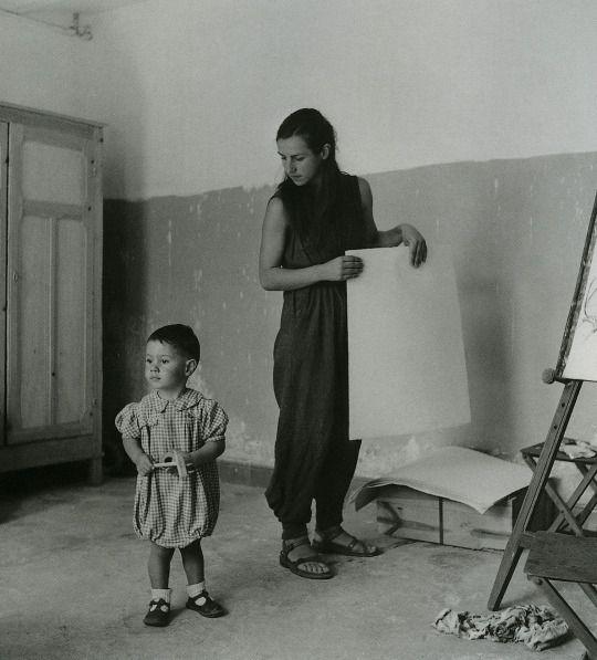 Claude Picasso and Françoise Gilot  Lee Miller  1949