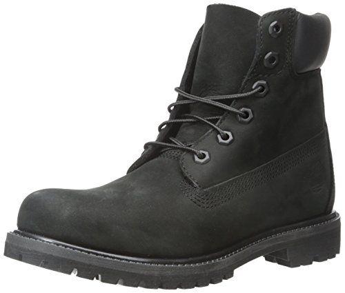 """Timberland Women's 6"""" Premium Boot Black Nubuck 7 B - Med..."""
