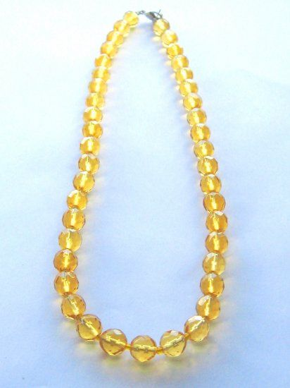 A brilliant yellow Citrine Necklace in the Venice style
