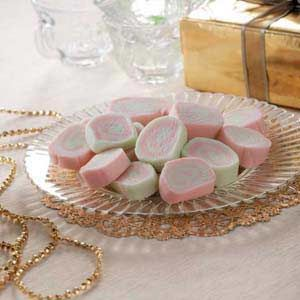 Pink Pinwheel Mints! Find the recipe at www.tasteofhome.com