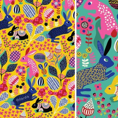 bunny patterns by Helen Dardik