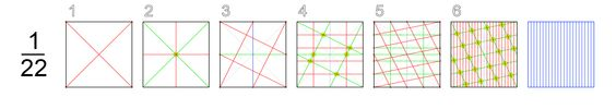 How to divide square in 22 equal pieces