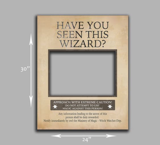 Harry Potter inspired Poster Prop - digital jpeg for giant prop. Cut out the middle and take photos with everyones face inside the gap. Great