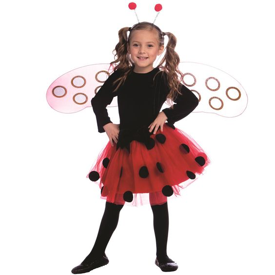 Dress Up America Girl's Ladybug Costume by Dress Up America