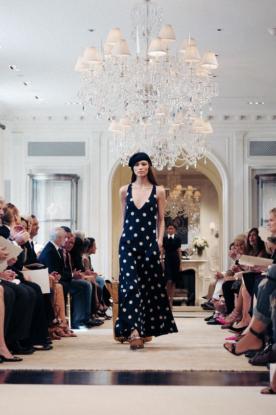 polka-dots. ralph lauren, resort 2015.by miguel yatco