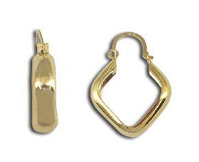 Brinco de argola folheado a ouro  Código: BS1607
