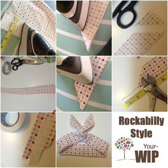 Rockabilly Headband Tutorial on The Sewing Loft