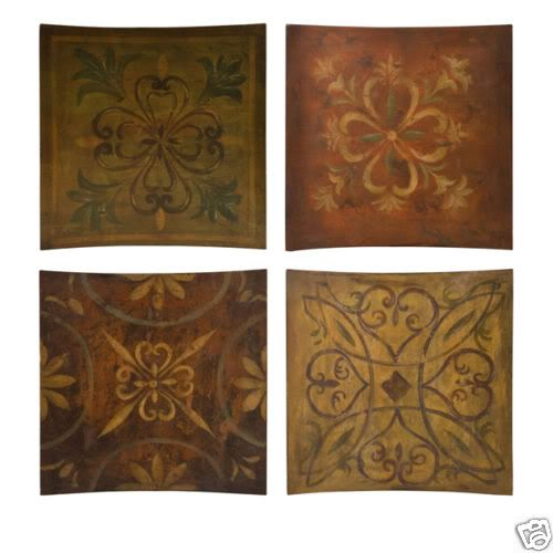 Wood Scroll Wall Decor : Tuscan scroll s large wood wall plaques home decor art