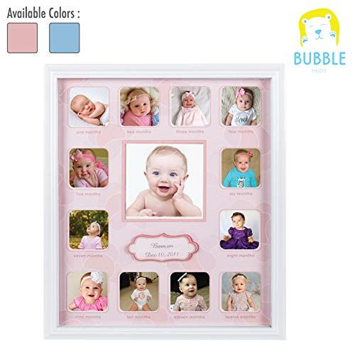 Amazon Com Collage Photo Frame For Baby First Year Keepsake Multi Picture Frames For Baby Ne In 2020 Multi Picture Multi Picture Frames 1st Birthday Gifts