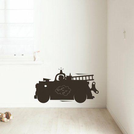 KEK Amsterdam Kreide-Wandtattoo TFB Feuerwehrauto M