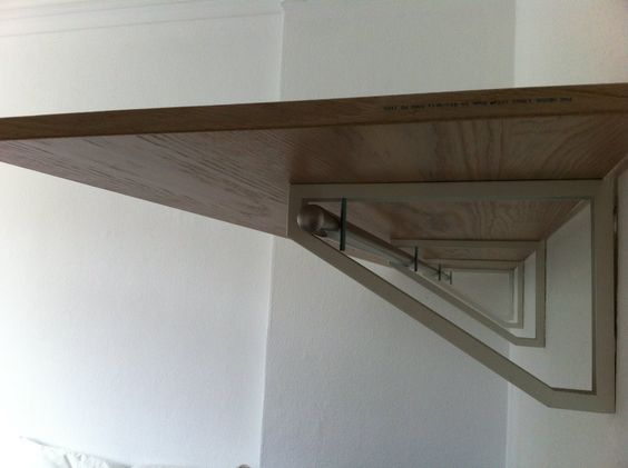 Materials: 3-4 Ekby Lerberg, Pax Door, Curtain Rod, Screws (long ...