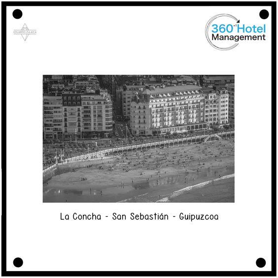 Diapositiva Hotel de Londres en la playa de La Concha de San Sebastián