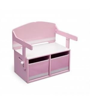 Venta Banco infantil rosa de almacenamiento 3 en 1 DE MADERA. TB84565GN