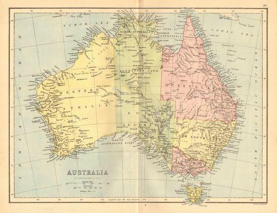 AUSTRALIA Shows Northern Territory as Alexandra Land part of – Explore Australia Map
