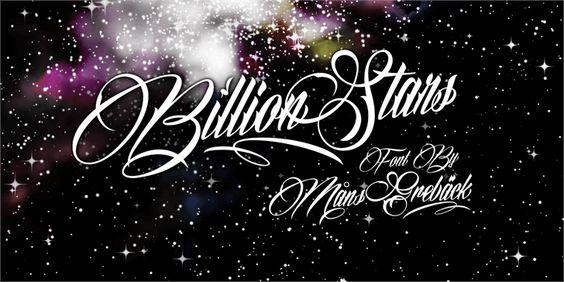 Billion Stars Personal Use font by Måns Grebäck - FontSpace