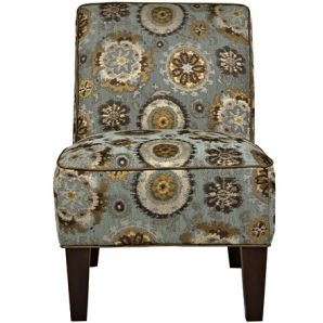 Dover Armless Chair in Vintage Tapestry Blue