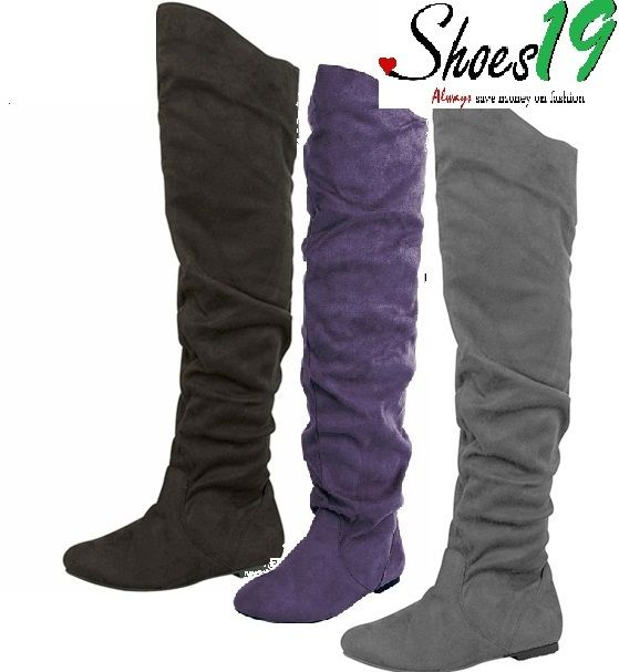 Details about Sexy Thigh High Over the Knee Rubber sole Slouch