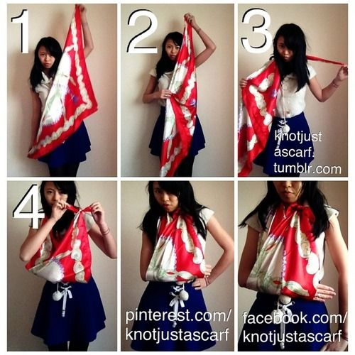 Tutorial #90 on the ways of how to tie scarves is the Silk Scarf Arm Sling. If ever you want to style up while having a broken arm or need t...