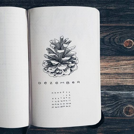 30 idées pour votre page de décembre dans votre Bullet Journal - unknown artist