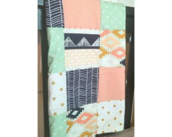 Arizona Tribal Small Patchwork Baby Blanket