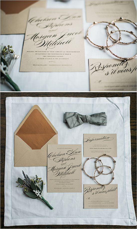 calligraphy wedding invitation @weddingchicks
