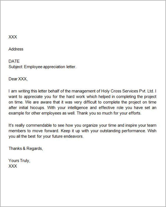 Thank You Letters For Appreciation Download Free Documents Pdf